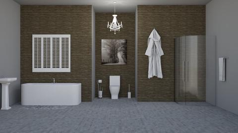 BoringBathroom - Bathroom  - by LaylaaaarrrJF