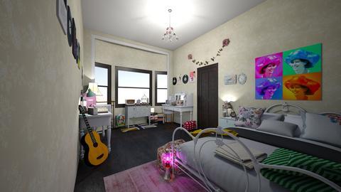 MyAestheticVintageRetroRm - Rustic - Bedroom  - by jade1111