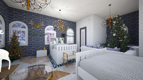 Girls Christmas Room - Modern - Bedroom  - by designer408340284