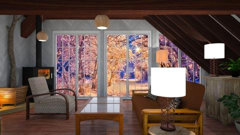 Golden winter sun set - Country - Living room - by Sue Bonstra