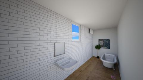 Z widokiem z okna - Bedroom  - by gabrielasiemiaszko