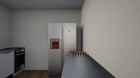 kitchen with fridge facin - Eclectic - Kitchen  - by greent thing hates this site