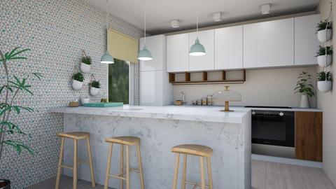 little flat2 - Modern - Kitchen  - by levai_magdolna
