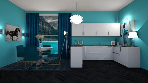Teal Kitchen - Kitchen  - by Khayla Simpson