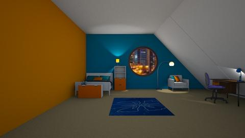 BO Attic Bedroom - Minimal - Bedroom - by designcat31