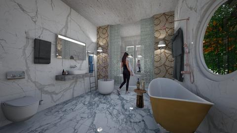 Marble_DeLuxe_Bath_ - Modern - Bathroom  - by Nikos Tsokos