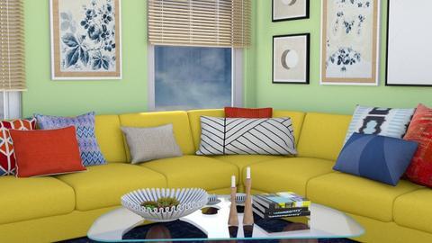 yellow sofa - Living room  - by zozan