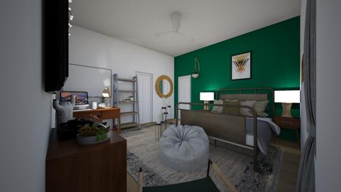 Chris bedroom - Modern - Bedroom - by mandie101