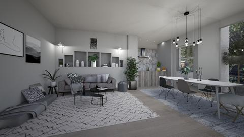 Grey - Living room - by Dia Toth