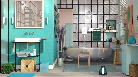 Turqoise and Metal - Eclectic - Bathroom  - by Sally Simpson