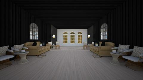 bold black white and gold - Living room  - by BN12
