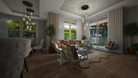 Boho style - Living room  - by Maria Helena_215