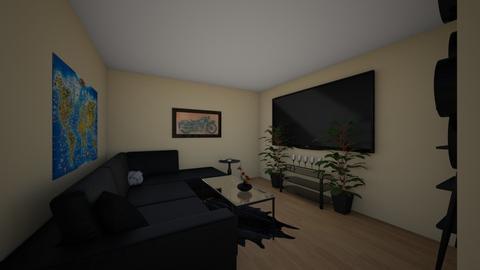 dark theme - Living room - by kayleijade