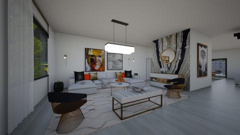 Modern corner - Living room  - by flacazarataca_1