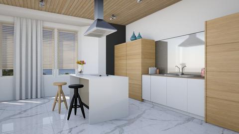 Blocky Wood Kitchen - Modern - Kitchen  - by 3rdfloor