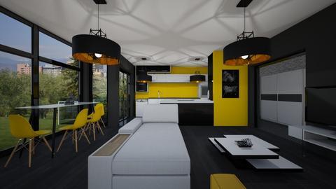 Diploma Projesi Salon - Modern - Living room - by alihan