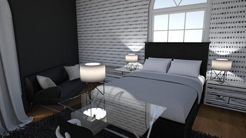 Monochrome - Bedroom  - by EZdonuts