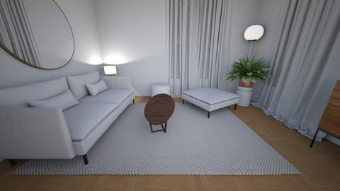 Living room rug white 7 - Living room  - by MarikaMV