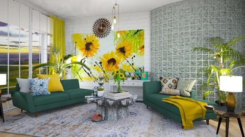 Summer - Living room  - by Feeny