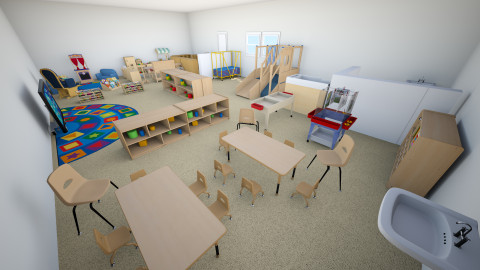 Toddler Childcare Setting - Kids room - by 788D6F5950078FD70B877DCF61A1E1F4212