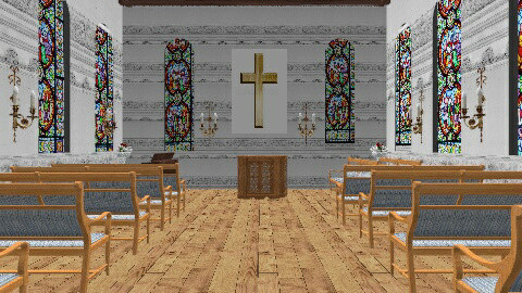 The Little Church2 - Eclectic - Garden  - by krgee