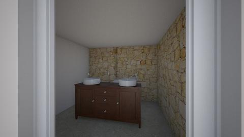 down stairs bathroom - Bathroom  - by irerhino