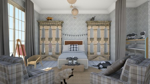 Grey for kids - Kids room  - by chania