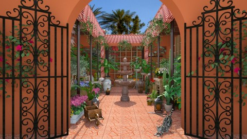 Design 221 Hacienda Nursery - Garden  - by Daisy320