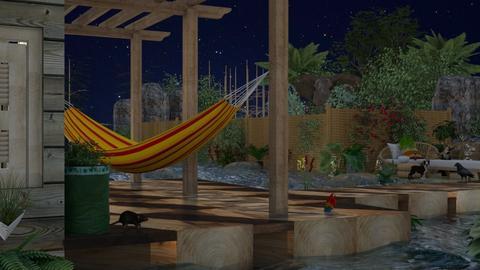 tropics at night - Glamour - Garden  - by nat mi