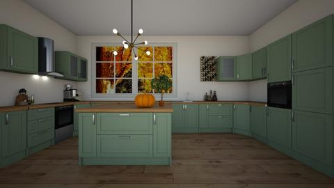 autumn kitchen - Kitchen  - by sophiell