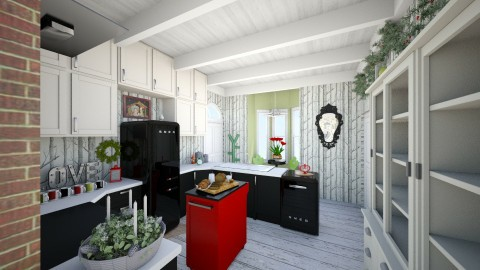 Christmas Kitchen East - Country - Kitchen  - by KitchenFirUs