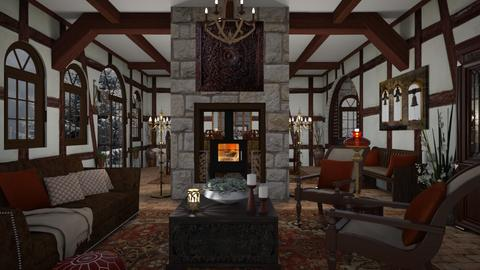 Design 492 Tudor Barn Conversion - Living room  - by Daisy320