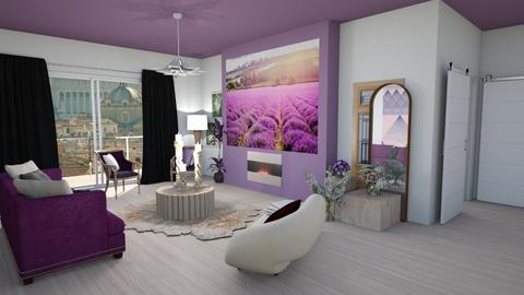 Lavender living  - Eclectic - Living room  - by augustmoon