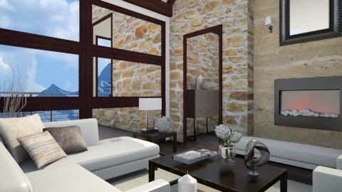 Modern Mountain Home - Modern - Living room  - by Baustin