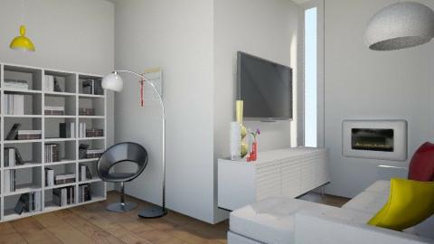 White Retro - Retro - Living room  - by JazzyAllen