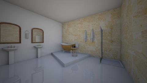 Gold bathroom - Modern - Bathroom  - by ATHENANn