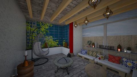 moroccan Terrace - Garden - by TusaTimea