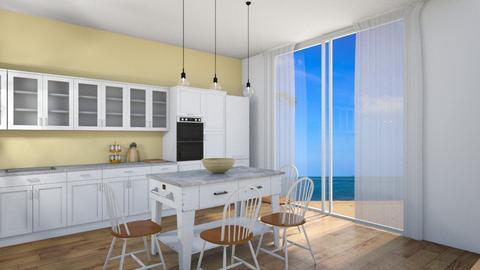 Ocean view kitchen - Kitchen  - by WhyIsGamora