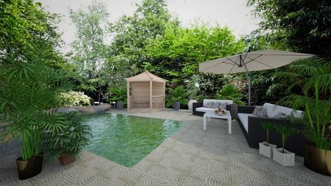Backyard - Garden - by lealaurenbagari