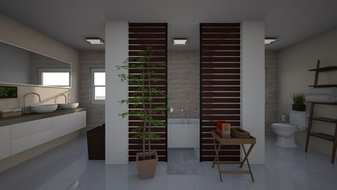 Maple Oasis - Minimal - Bathroom  - by lexisaa