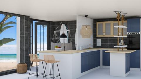 Ocean inspired kitchen - Kitchen  - by Victoria_happy2021