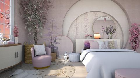 soft lilac bedroom - by Tatjana113