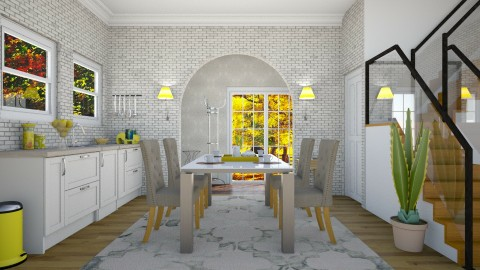 Yellow morning - Modern - Dining room  - by ljiljanan