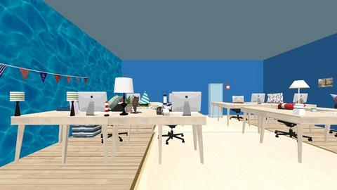 coastal office ground flo - Modern - Office  - by AVaughan