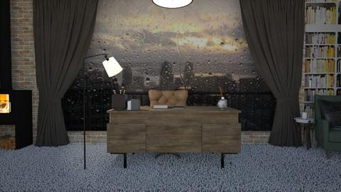 Stormy Ofiice - Office  - by SouthernDeco