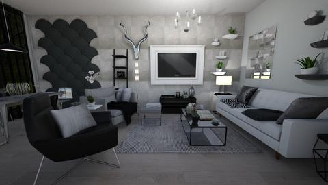 Slate and Silvery - Living room - by parsnips