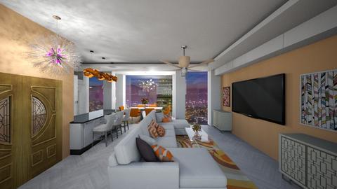Orange White - Living room  - by mattpop34