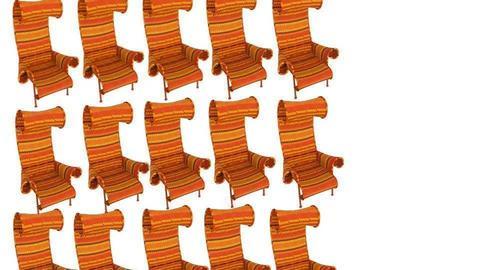 orange chairs - by monkey219