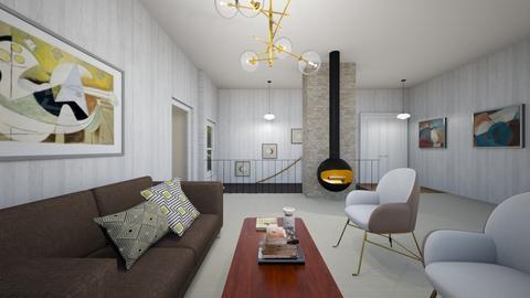 mid century modern - Retro - Living room  - by steker2344