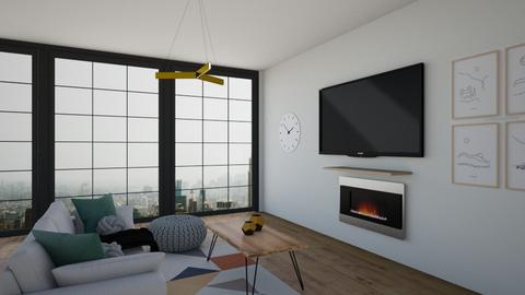 New York penthouse  - Living room  - by LilLil